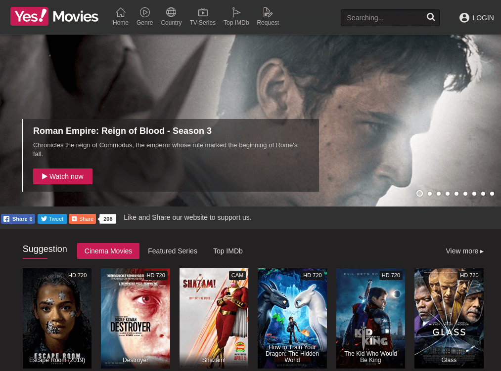 YesMovies free TV shows